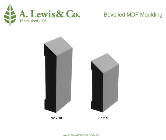 Bevelled MDF Mouldings