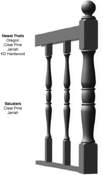 Newel Post Balusters